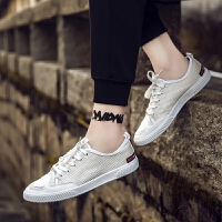 CUM 潮牌帆布鞋男2017夏季新款男鞋子潮流休闲板鞋百搭开口笑低帮潮鞋鞋