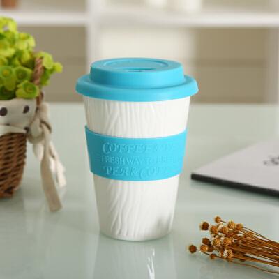 shunxiang 顺祥 陶瓷 9安士大自然健康陶瓷盖杯
