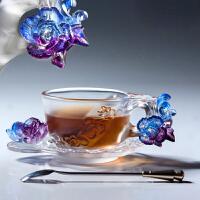 咖啡杯带勺欧式玻璃茶杯搅拌杯创意礼物随手杯套装
