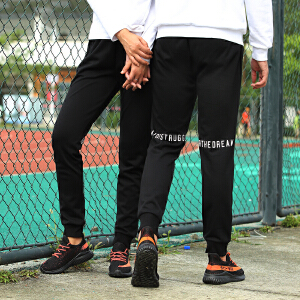 赛琪情侣运动裤长裤新款修身小脚透气针织裤跑步休闲长裤