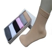 肉色肤色纯棉袜子女士春秋季薄款纯色黑色夏天防臭全棉短袜中筒