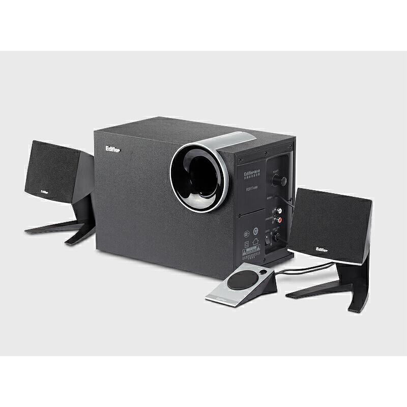 Edifier/漫步者 R201T北美版 2.1木质台式电脑低音炮 笔记本音响 震撼低音