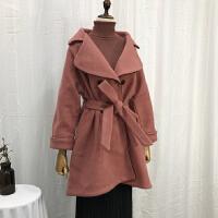 C1L@26 2.44斤冬季中长时尚毛呢大衣韩版呢子外套