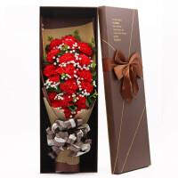 创意肥皂玫瑰花束礼盒康乃馨香皂花生日礼物送妈妈母亲节礼物惊喜的创意节日礼品