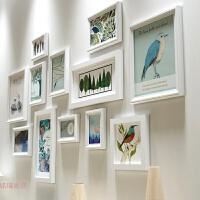 实木相框墙创意照片墙简约现代客厅挂墙相框组合客厅相片墙