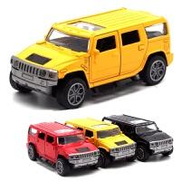 儿童玩具合金车奔驰G65模型 甲壳虫回力玩具创意烘焙汽车摆件儿童节礼物 悍马H2 盒装一辆