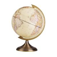 【满100-40 单件包邮】得力仿古地球仪2178直径25cm有他学习地理就够了