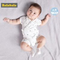 巴拉巴拉夏装2018新款男婴儿连体衣哈衣爬服纯棉A类男休闲外出服