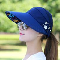 帽子女夏天休闲百搭出游鸭舌帽韩版春夏季可折叠防晒太阳帽遮阳帽