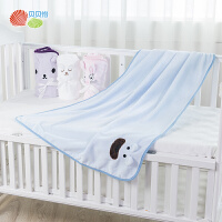 贝贝怡新生儿婴儿毛绒盖毯宝宝午睡空调毯推车毯卡通保暖毛毯