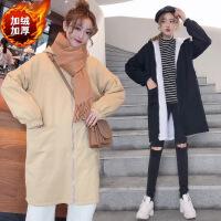 两面穿胖mm风衣外套女学生中长款2018春秋季新款韩版宽松大码大衣