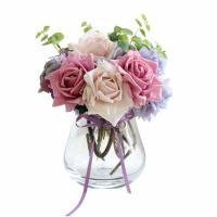 新品仿真花玫瑰花束套装假花客厅装饰花绢花餐桌茶几装饰摆件花艺SN3019