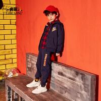 【2件3折到手价:125.7元】小虎宝儿男童运动套装春秋2019新款儿童洋气外套时髦裤子两件套潮