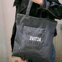 得力72565补习袋学生工具袋大容量文件袋帆布男女补课包美术包小拎包 收纳袋手提袋