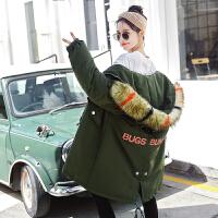 孕妇棉衣中长款韩版宽松厚棉袄怀孕期冬装外套大衣2018新款