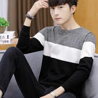 秋季毛衣男士针织衫韩版长袖圆领薄款百搭青少年打底衫潮