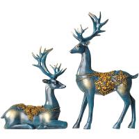 结婚礼物新婚礼品家居装饰品摆件欧式客厅酒柜电视柜工艺品情侣鹿