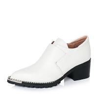 Millie's/妙丽秋专柜同款黑色牛皮女鞋LB425CM6