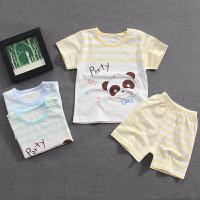 婴幼儿短袖套装短裤T恤宝宝夏装新款男童睡衣内衣薄款
