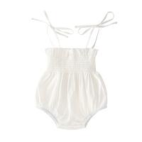 女童夏装吊带三角哈衣无袖婴儿女宝宝满月洋气休闲
