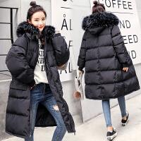 孕妇冬装2018新款棉衣大毛领怀孕期韩版中长款宽松外套冬