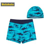 巴拉巴拉儿童泳衣男童泳裤夏装2018新款中大童游泳衣男孩泳帽泳装