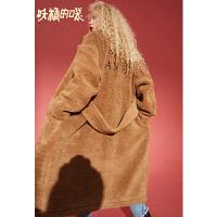 【秒杀价:237】【再享满499减50券】妖精的口袋韩版小个子毛呢外套女冬装新款通勤中长款呢大衣