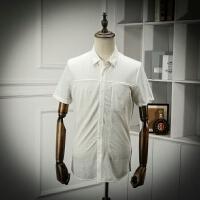 客供料尾单衬衫男短袖素色商务休闲百搭青年透气舒适半袖衬衣寸衫