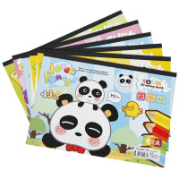 广博(GuangBo)10本装20张16K空白图画本/学习用品颜色随机GB16008