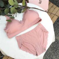 春季新款复古韩国百搭蕾丝短款抹胸裹胸无钢圈文胸内衣两件套套装