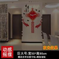 钟表挂钟客厅家用挂表现代简约创意潮流时钟装饰大气石英钟中国风 夜光款巨 20英寸