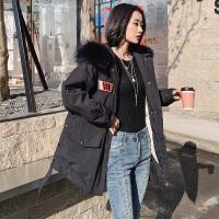 欧美范2018冬季显瘦新款白鸭绒时尚小个子潮流外套韩版短款大毛领羽绒服女