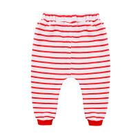宝宝大红条纹哈伦长裤季女儿童长裤男婴儿哈伦裤