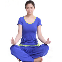瑜伽服套�b 健身服跳操服 女短袖瑜珈服