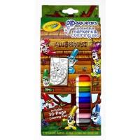 美国绘儿乐/crayola12色可水洗短杆水彩笔填色画套装04-5714