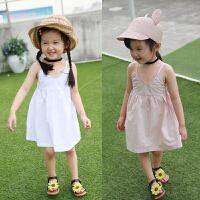 女童夏装新款童装背心公主裙儿童吊带裙宝宝度假裙子