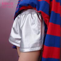 【春装新品 支持礼品卡】妖精的口袋 黑系银河  春季腰间抽绳松紧裤腰短裤