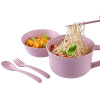 碗筷套装学生宿舍方便面泡面拉面碗家用带盖日式餐具饭碗