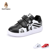 暇步士Hush Puppies童鞋男女童小白鞋儿童运动鞋时尚涂鸦学生板鞋休闲鞋(5-10岁可选)DP9366