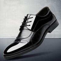 承发 商务休闲皮鞋子男士系带耐磨工作正装 35118