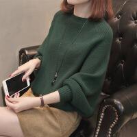 2018春季新款女士毛衣蝙蝠衫韩版宽松显瘦百搭短款套头针织衫上衣