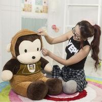 猴子毛绒公仔玩具 背带猴猴玩偶 大号猩猩 小猴子抱枕 如图