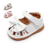 女宝宝凉鞋夏季包头叫叫鞋婴儿学步鞋公主鞋子