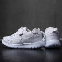 男童鞋儿童白色运动鞋跑步鞋中大童女童学生小白鞋