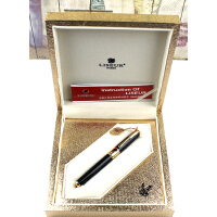 英雄金笔 英雄礼赞003型玫瑰红金礼盒黑丽雅金夹12k金笔