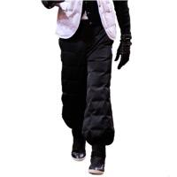 欧洲站冬装新款羽绒裤女外穿显瘦高腰加厚工装灯笼裤大码修身棉裤
