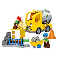 积木拼装大颗粒城市建筑工程队拼插儿童玩具男女