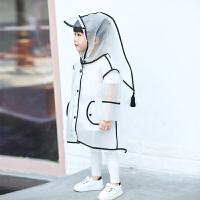 儿童雨衣宝宝女童男童透明雨披幼儿园小童学生可爱雨衣