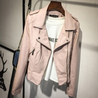 2018春秋装新款韩版pu皮衣女短款修身黑色小外套女士机车皮夹克
