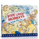 英文原版绘本 Five Little Monkeys Wash the Car 五只小猴子洗汽车经典故事书3-6岁儿童